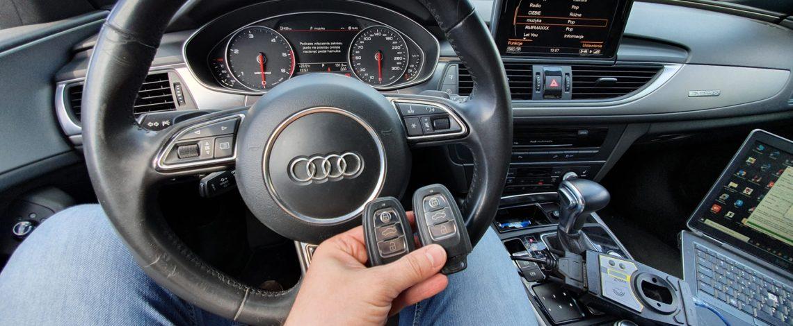 Audi A6 C7 2012 keyless system dorobienie klucza