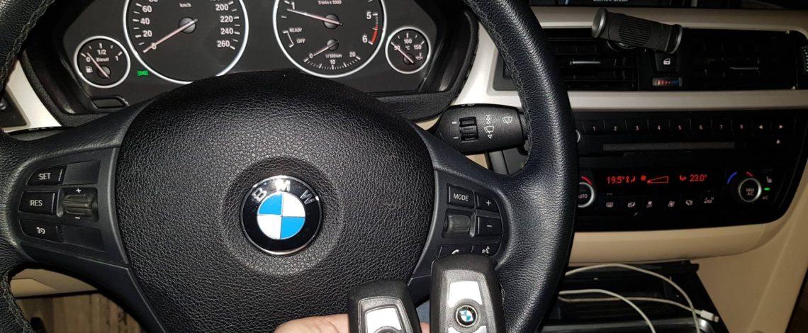 BMW F30 2013 Dorobienie klucza z pilotem keyless