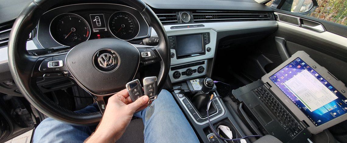 DOROBIENIE KLUCZA KEYLESS Z PILOTEM VW PASSAT B8 MQB