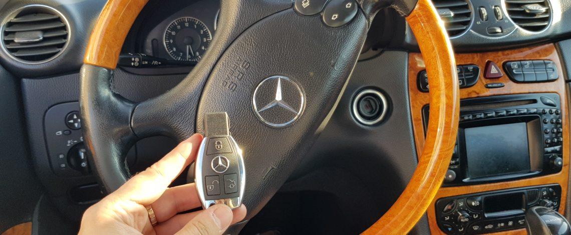 Dorobienie kluczy Mercedes CLK wszystkie klucze zgubione.