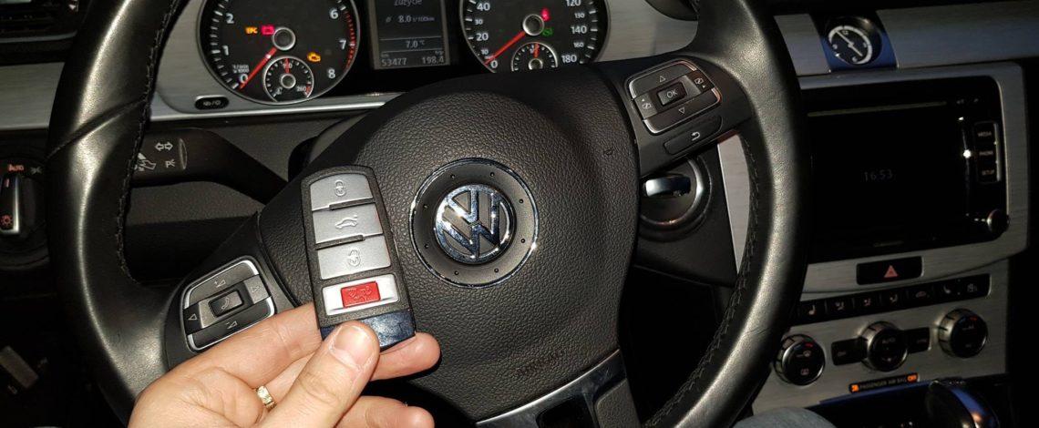 VW PASSAT CC 2013 USA. DOROBIENIE KLUCZA Z PILOTEM